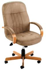 NEW Office Furniture DESK CHAIR, STONE MICRO, OAK BASE