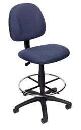 BOSS Furniture B315-BE TASK CHAIR W/FOOTRING