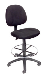 BOSS Furniture B315-BK TASK CHAIR W/FOOTRING