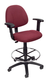 BOSS Furniture B315-BY TASK CHAIR W/FOOTRING