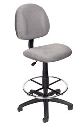 BOSS Furniture B315-GY TASK CHAIR W/FOOTRING