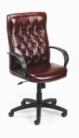 BOSS Office Furniture HIGH BACK OXBLOOD VINYL-BY/KNEE TL