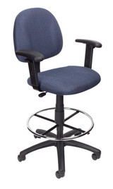 BOSS Furniture B315-BK TASK CHAIR W/B909JARM AND FOOTRING