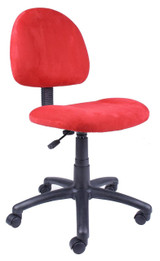 BOSS RED FABRIC DELUXE POSTURE CHAIR,BL-0086