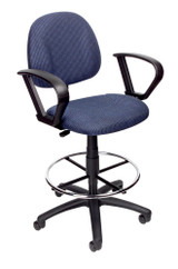 BOSS Office Chair B315-BE TASK CHAIR W/LOOP ARM AND FOOTRING
