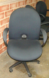 Used Black Task Chair With Arms