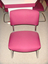 Used Reception Seating Burgandy And Chrome