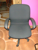 Used Rolling Chair Black Fabric
