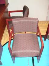 Used Wine Colored With Pattern Side Chair