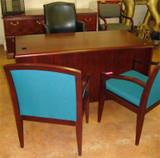 Used Wood Laminate Double Pedestal Desk