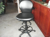TELLER STOOL WITH FOOT RING ADJUSTABLE HIEGHT