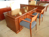 Traditional Desk, Credenza, and Chair set of (6)