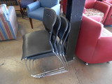 NEW Black Stackable Chairs