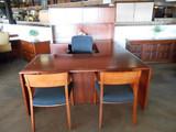 Used Cherryman  36' x 72' U Shaped Desk With Hutch