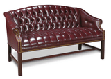 Traditional Couch Button Back OxBlood