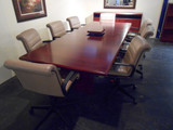 Knoll 10' Cherrywood Conference Table with (Pop up Electric) with matching Storage Credenza
