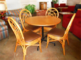 Used Maple Table w/ Bamboo chairs 60 chairs in stock