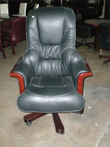 Custom Executive King Imported Top grain Italian Leather High Back Chair