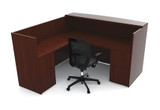 Cherryman Ruby Bowfront Reception L-Desk