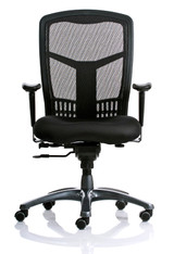 Capri Value Mesh High-Back Executive Chair w/ Seat Slider