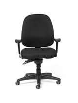 Madrid Mid-Back Fully Upholstered Intensive Task Chair w/ Seat Slider