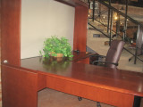 "L-Shape ""Steelcase"" Wood Desk w/credenza"