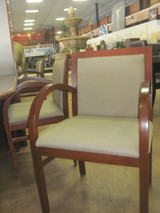 "Wood ""Steelcase"" Chairs W/Fabric"