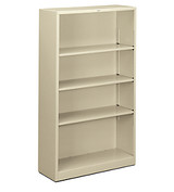 Hon Steel Brigade 4-Shelf Bookcase