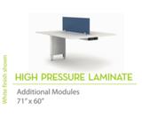 "High Pressure Laminate 71"" x60""-Knife Edges"