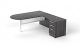 L-shaped bullet desk