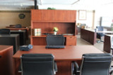Bow front desk