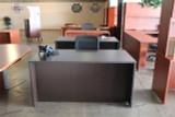 Double pedestal desk 30x60 espresso