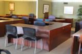 U-shaped Mahogany Desk