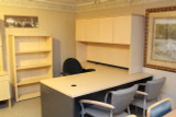 Maple l shaped desk