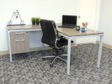 L-shape desk with hanging file