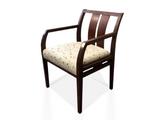 Collage Side Chair Slat Back Angular Arm  Kimball
