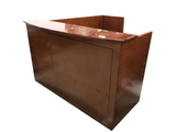 Recepetion Desk, Right Handed, Bow Front With BBF Pedestal by Cherryman (OOF)
