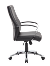 Executive chair with metal chrome-plated arms