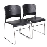 Plastic stackable chairs