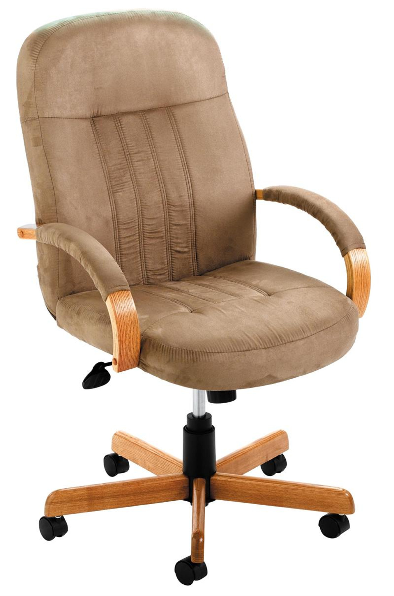 Wonderful NEW Office Furniture DESK CHAIR, STONE MICRO, OAK BASE