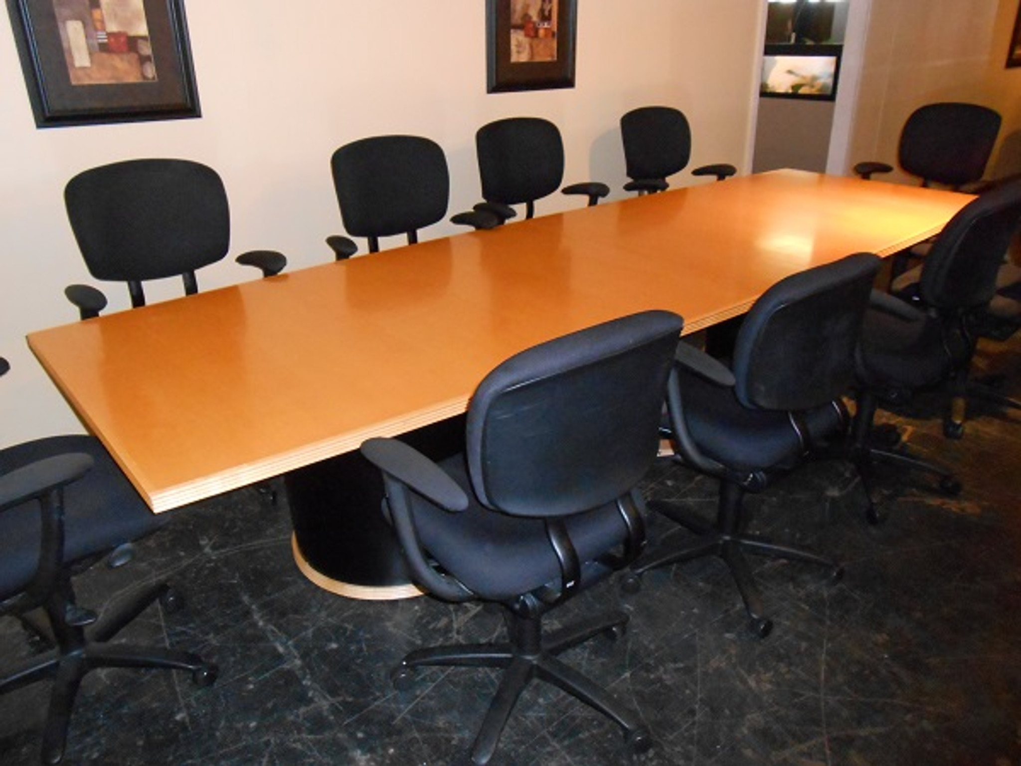 10 Ft Maple Wood Conference Table Knoll Orlando Office Furniture