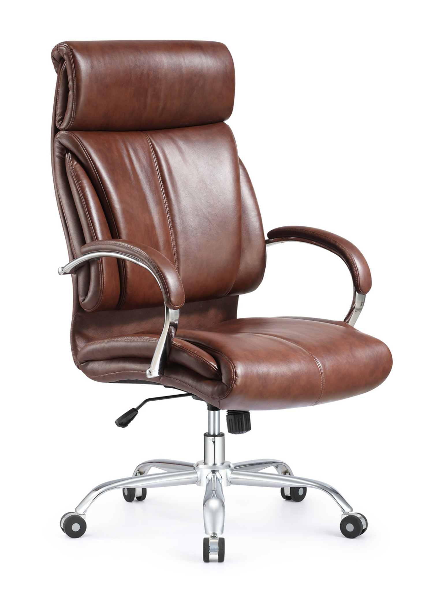 Brown leather office chair Industrial Ergonomic Style And Vintage High Back Leather Office Chair Brown Leather Chair Orlando Office Furniture Ergonomic Style And Vintage High Back Leather Office Chair Brown