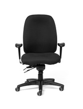 Madrid High-Back Fully Upholstered Intensive Task Chair w/ Seat Slider