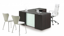 L-Shaped Desk with Glass modesty