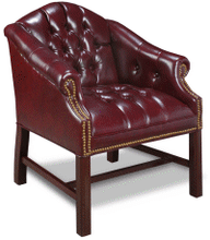 Barrel Chair Traditional OxBlood
