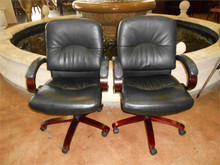Used Black Mid Back Caster Chairs