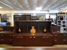 1 Piece Lateral File with Hutch Ea.