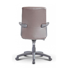 Nuovo Mid Back Executive Chocolate Brown Leather Chair