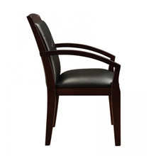 Cuscino Espresso Wood Guest Chair
