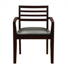 Fascino Espresso Wood Guest Chair